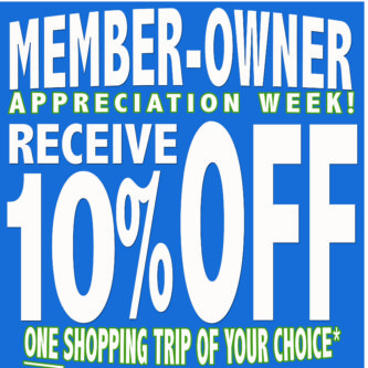 Member Owner Sale Through Sunday the 24th!